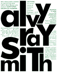 Alvy Ray Smith event poster.